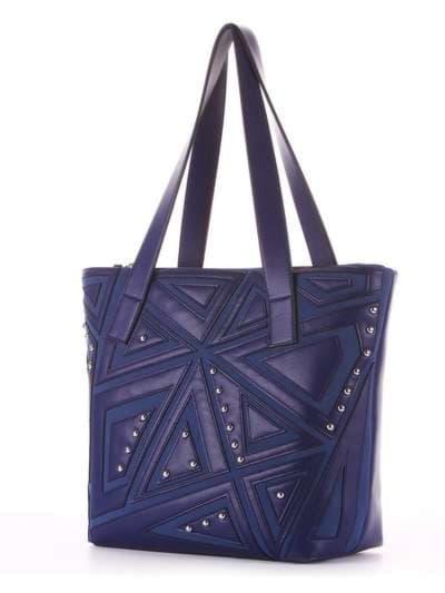 Модная сумка, модель 181512 синий. Фото товара, вид сзади.
