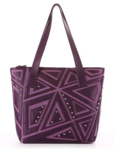 Молодежная сумка, модель 181513 баклажан. Фото товара, вид сбоку._product-ru