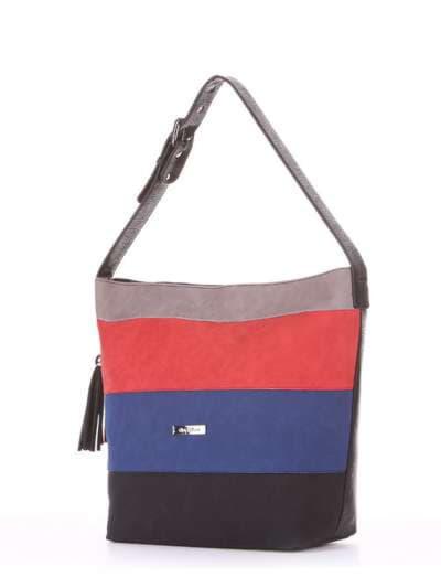 Школьная сумка, модель 181811 черный. Фото товара, вид сзади.