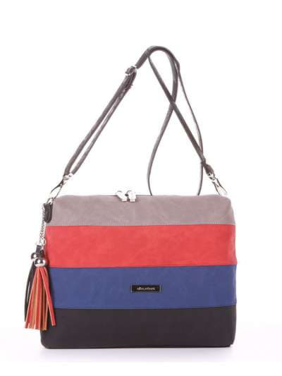 Стильная сумка, модель 181821 черный. Фото товара, вид спереди.