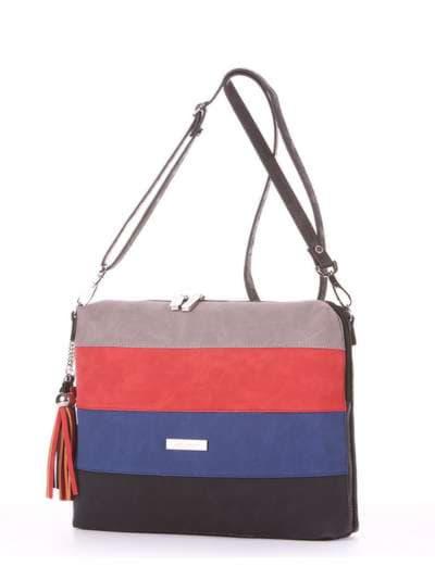 Стильная сумка, модель 181821 черный. Фото товара, вид сзади.