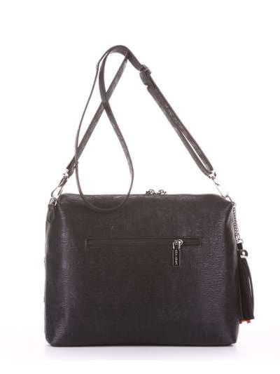 Стильная сумка, модель 181821 черный. Фото товара, вид дополнительный.