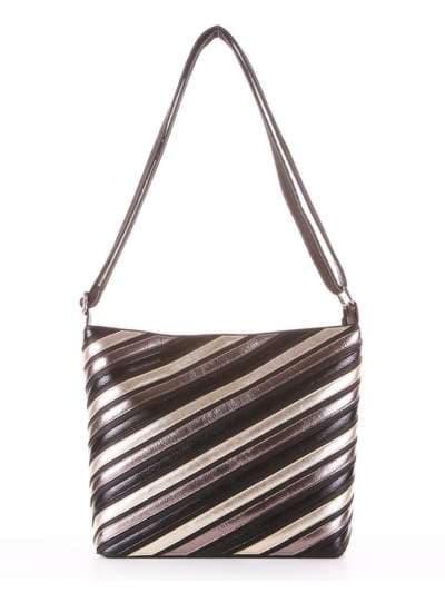 Брендовая сумка через плечо, модель 181481 черный. Фото товара, вид сбоку.