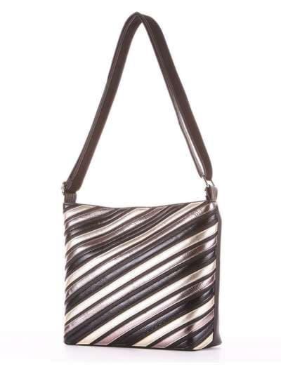 Брендовая сумка через плечо, модель 181481 черный. Фото товара, вид сзади.