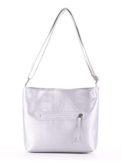 Стильная сумка через плечо, модель 181483 серебро. Фото товара, вид дополнительный.