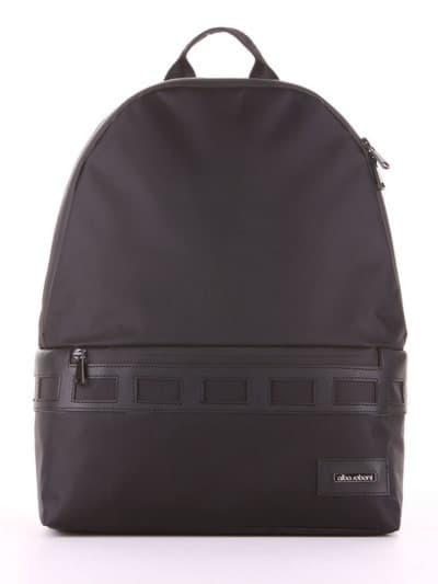 Стильный рюкзак - unisex, модель 181601 черный. Фото товара, вид сбоку.