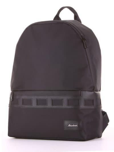 Стильный рюкзак - unisex, модель 181601 черный. Фото товара, вид сзади.