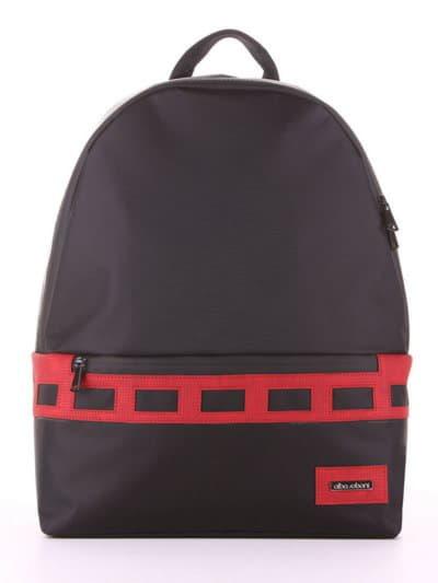 Стильный рюкзак - unisex, модель 181602 черно-красный. Фото товара, вид сбоку.