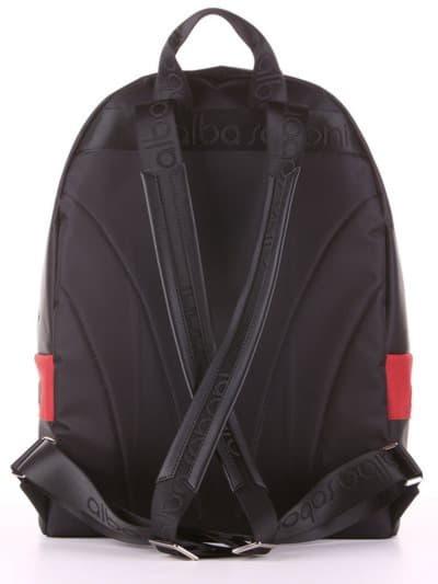 Стильный рюкзак - unisex, модель 181602 черно-красный. Фото товара, вид дополнительный.