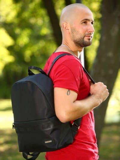 Школьный рюкзак - unisex, модель 181611 черный. Фото товара, вид спереди.