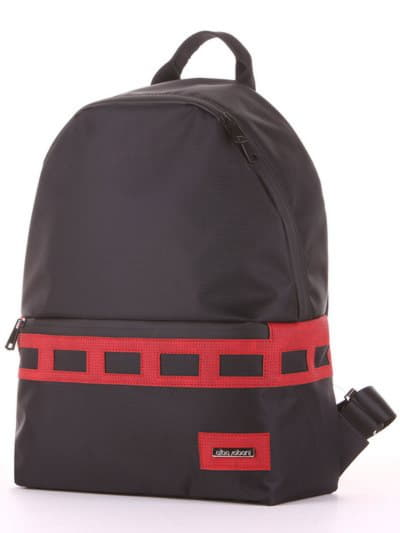 Модный рюкзак - unisex, модель 181612 черно-красный. Фото товара, вид сзади.