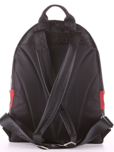 Модный рюкзак - unisex, модель 181612 черно-красный. Фото товара, вид дополнительный.