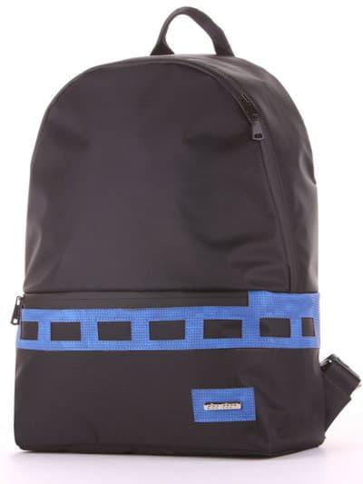 Женский рюкзак - unisex, модель 181613 черно-синий. Фото товара, вид сзади.