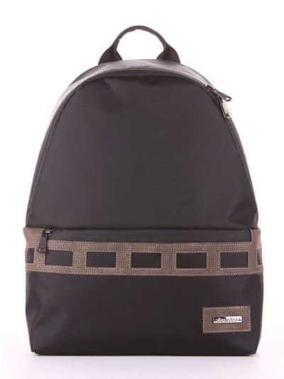 Школьный рюкзак - unisex, модель 181614 черный-хаки. Фото товара, вид сбоку.