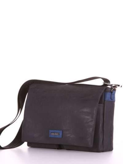 Школьная сумка, модель 181632 черный. Фото товара, вид сзади.