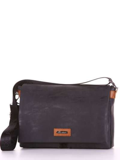 Брендовая сумка, модель 181633 черный. Фото товара, вид сбоку.