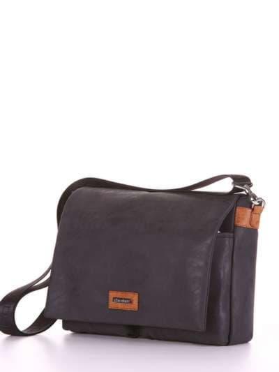 Брендовая сумка, модель 181633 черный. Фото товара, вид сзади.