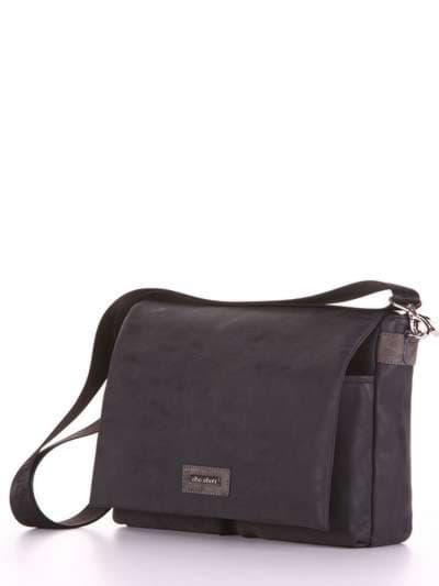 Школьная сумка, модель 181634 черный. Фото товара, вид сзади.