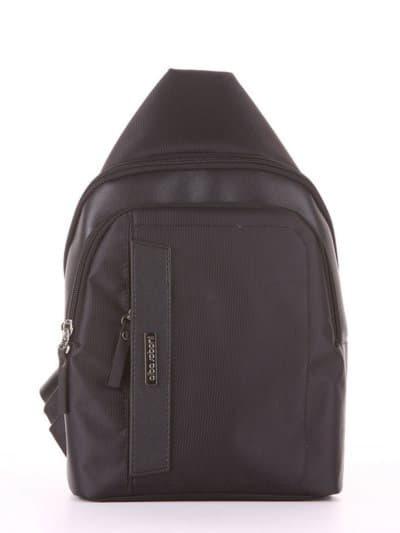 Школьный моно рюкзак, модель 181621 черный. Фото товара, вид сбоку.