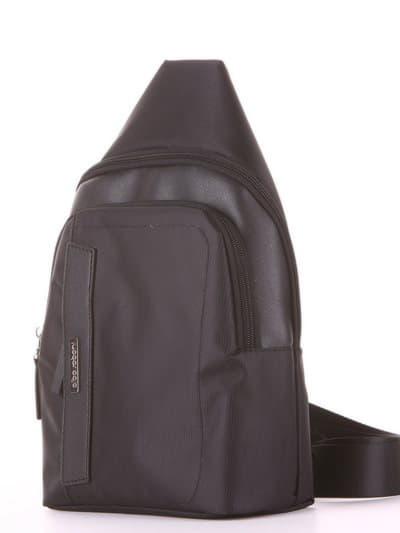Школьный моно рюкзак, модель 181621 черный. Фото товара, вид сзади.