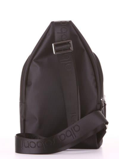 Школьный моно рюкзак, модель 181621 черный. Фото товара, вид дополнительный.