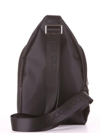 Школьный моно рюкзак, модель 181624 черный-хаки. Фото товара, вид дополнительный.