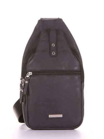 Школьный моно рюкзак, модель 181651 черный. Фото товара, вид сбоку.