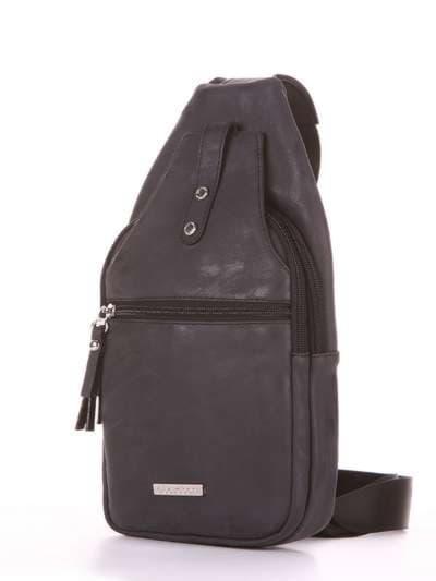 Школьный моно рюкзак, модель 181651 черный. Фото товара, вид сзади.