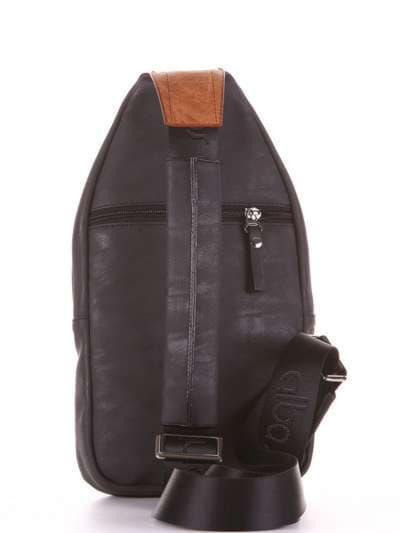 Школьный моно рюкзак, модель 181653 черный. Фото товара, вид дополнительный.