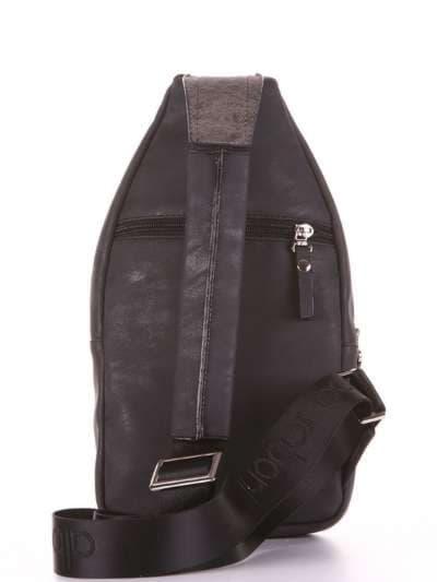 Брендовый моно рюкзак, модель 181654 черный. Фото товара, вид дополнительный.