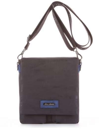 Модная сумка через плечо, модель 181642 черный. Фото товара, вид сбоку.