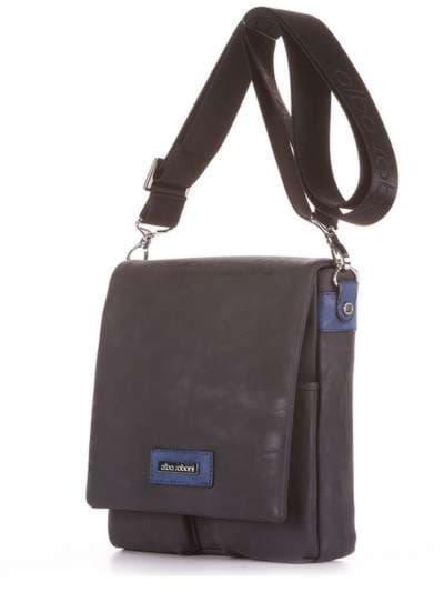 Модная сумка через плечо, модель 181642 черный. Фото товара, вид сзади.
