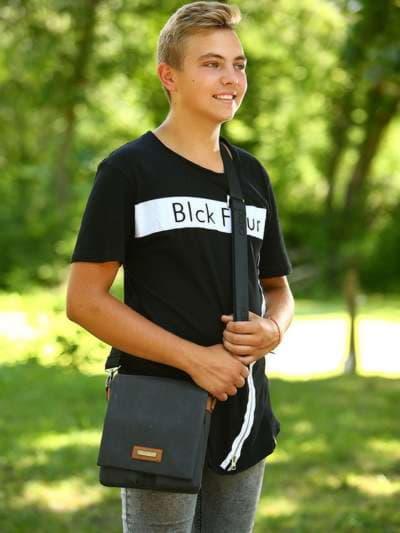Модная сумка через плечо, модель 181643 черный. Фото товара, вид спереди._product-ru