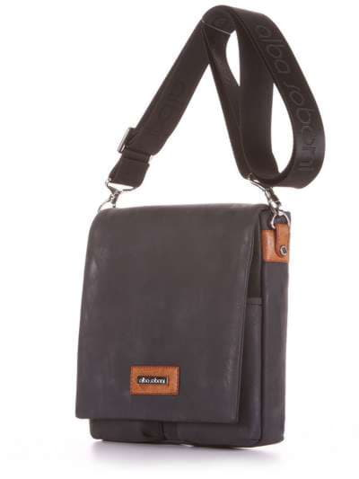 Модная сумка через плечо, модель 181643 черный. Фото товара, вид сзади.