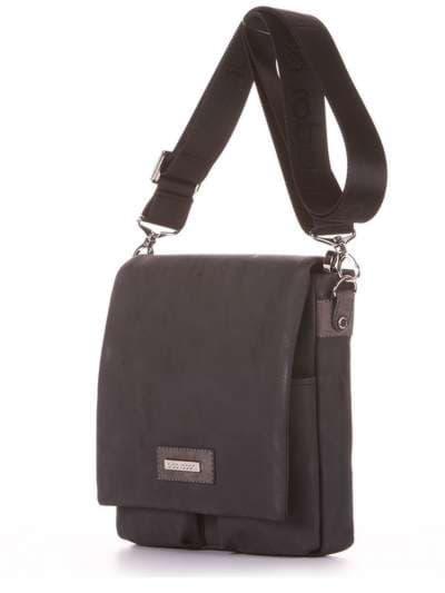 Брендовая сумка через плечо, модель 181644 черный. Фото товара, вид сзади.
