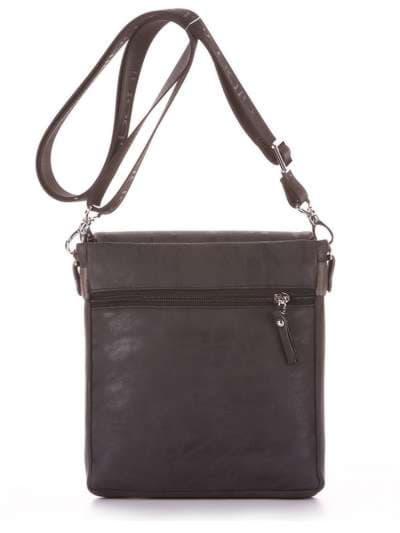 Брендовая сумка через плечо, модель 181644 черный. Фото товара, вид дополнительный.