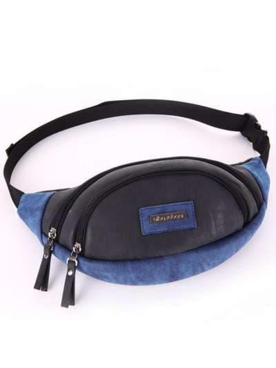 Женская сумка на пояс, модель 181662 черный. Фото товара, вид сбоку.