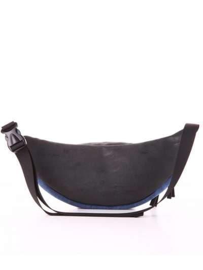 Женская сумка на пояс, модель 181662 черный. Фото товара, вид дополнительный.