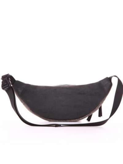 Модная сумка на пояс, модель 181664 черный. Фото товара, вид дополнительный.