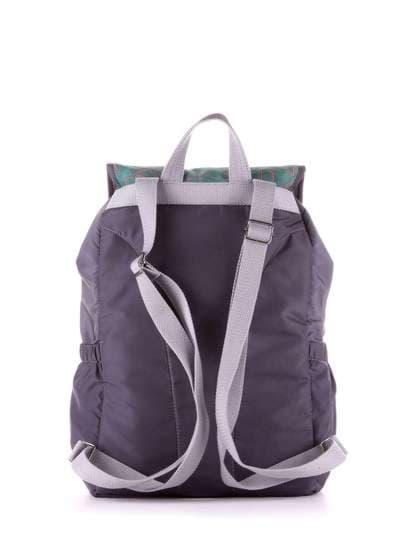 Молодежный рюкзак, модель 183843 серо-зеленый. Фото товара, вид дополнительный.