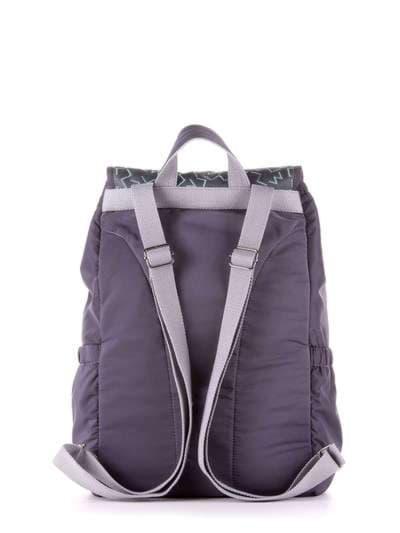 Стильный рюкзак, модель 183844 серый. Фото товара, вид дополнительный.