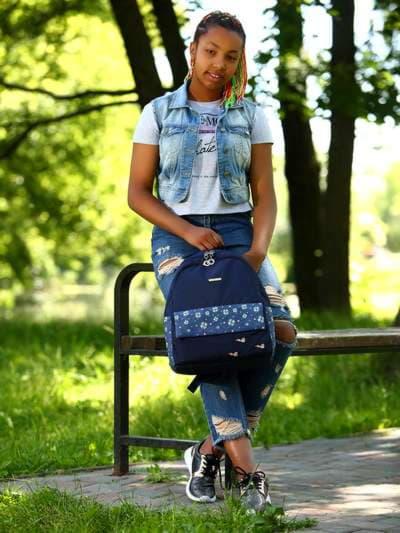Брендовый рюкзак, модель 183852 синий. Фото товара, вид спереди.