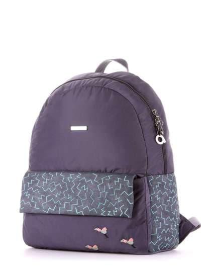 Брендовый рюкзак, модель 183854 серый. Фото товара, вид сзади.
