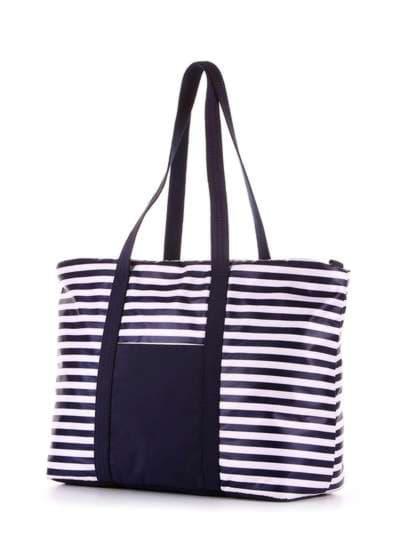 Модная сумка, модель 183801 синий/белая полоса. Фото товара, вид сзади._product-ru