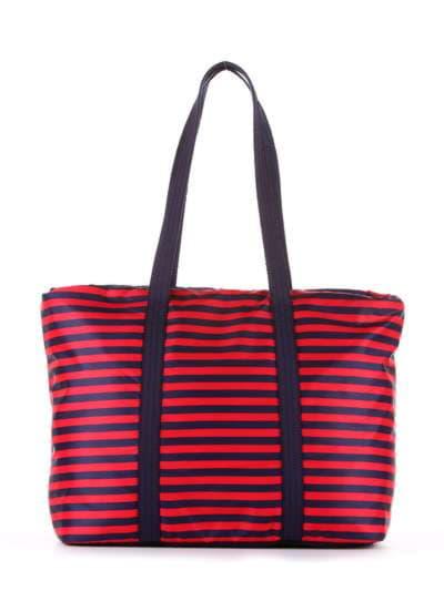 Стильная сумка, модель 183802 синий/красная полоса. Фото товара, вид дополнительный.