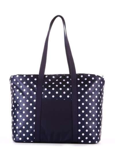Молодежная сумка, модель 183804 синий/белый горох. Фото товара, вид сбоку.