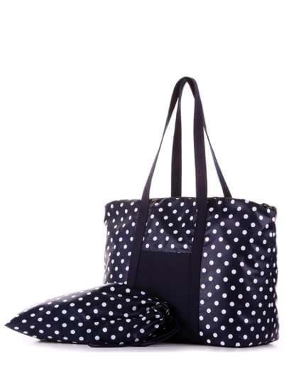 Молодежная сумка, модель 183804 синий/белый горох. Фото товара, вид дополнительный.