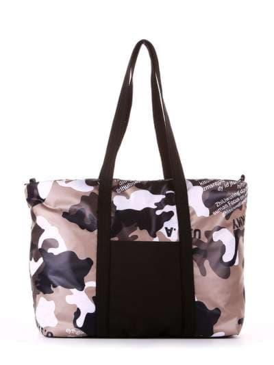 Женская сумка, модель 183806 милитари/черный. Фото товара, вид сбоку.