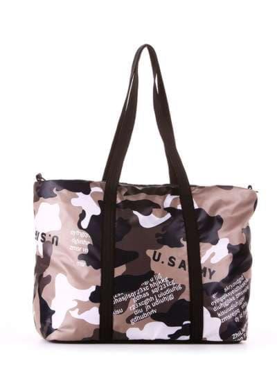 Женская сумка, модель 183806 милитари/черный. Фото товара, вид дополнительный.