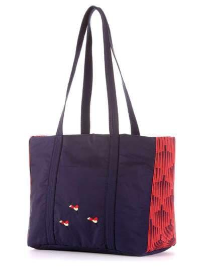 Брендовая сумка, модель 183861 сине-красный. Фото товара, вид сзади.